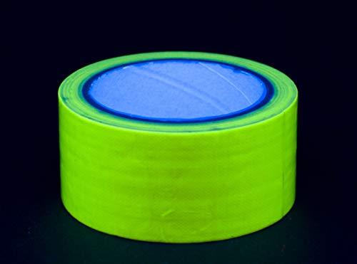 De neón de cinta adhesiva de cinta adhesiva de activa UV de neón de cinta adhesiva de fluorescente de colour negro de luz de Americana 50 mm x 10 M, amarillo, 50mm x 10m 1 Rolle