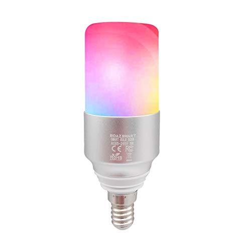 WiFi Lampen,WiFi Smart Bulb LED Haushalt LED-Licht Kompatibel mit Alexa & Google Home & IFTTT - Dimmbare Mehrfarbige von BOAZ SMART LIGHT (E14)
