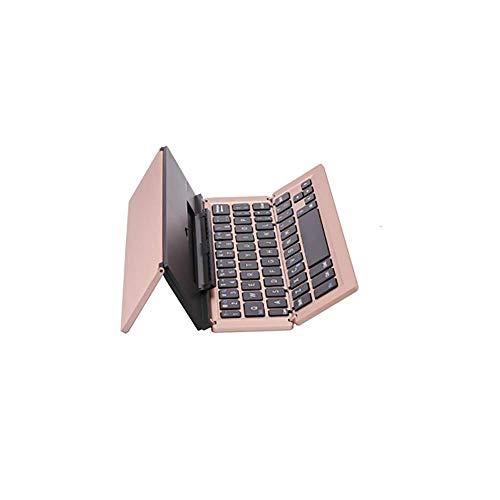 Bluetooth-Tastatur, universelle dreifach gefaltete, drahtlose Aluminiumlegierung, geeignet für Apple/Android/Windows-Systeme mit drei Systemen (58 Schlüssel), Lebensdauer 50 Mio.