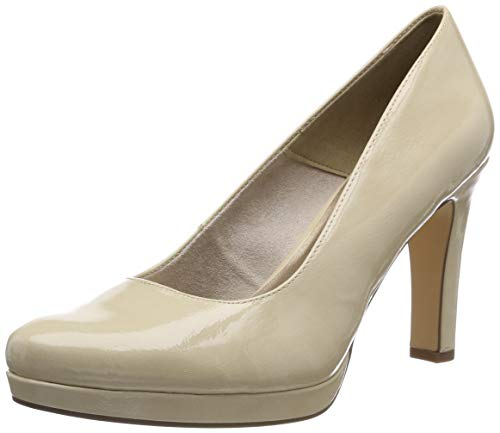 Tamaris Damen 1-1-22426-22 452 Pumps, Beige (Cream PATENT, 38 EU