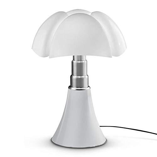 PIPISTRELLO-Lampe Dimmer LED pied télescopique H66-86cm Blanc Martinelli Luce - designé par Gae Aulenti