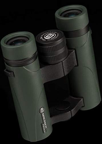 Bresser Fernglas Pirsch 10x26 mm wasserdicht mit hochwertiger Phasenvergütung zur Kontrasterhöhung, Prismen aus BaK-4 Glasmaterial, Twist-Up Augenmuscheln und Stickstofffüllung