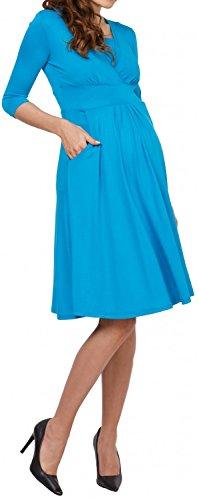 Zeta Ville - Maternité Robe trapèze grossesse poches allaitement - femme - 763c Turquoise