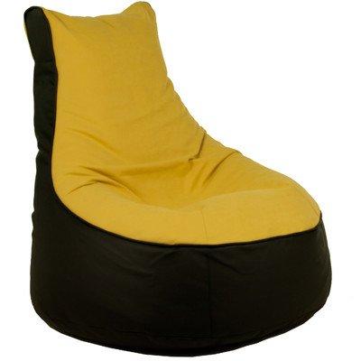 Sitzsack Lotos-Genua Farbe (Lotos): Schwarz, Farbe (Genua): Gelb