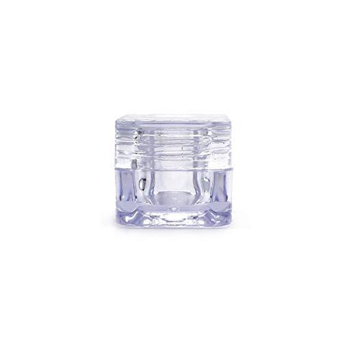 25 STÜCKE 5 ML 0,17 UNZE Transparent Acryl Quadratische Augencreme Flasche Gesichtscreme Creme Box Kosmetik Verpackung Probenglas Lidschatten Kosmetik Gesichtssch