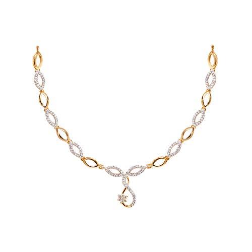Jewelscart American Diamond CZ Zircon Fashion Jewellery Set Necklace Earrings for Women