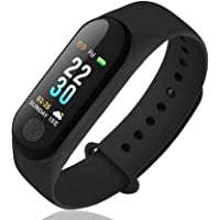 SBA A003 M4 Plus Bluetooth Wireless Smart Fitness Band for Boys/Men/Kids/Women | Sports Watch Compatible with Xiaomi, Oppo, Vivo Mobile | Heart Rate and BP Monitor, Calories Counter