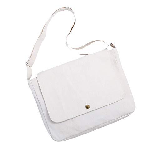 squarex Unisex Canvas Messenger Bags Einkaufstasche Reise Große Kapazität Umhängetaschen Mädchen Brusttasche Frauen Umhängetasche