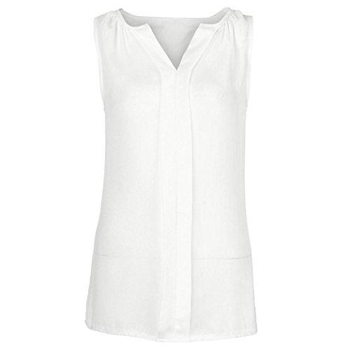 cinnamou Plus Size Oberteile T Shirt Bluse Tank Top Damen Camisole Sommer Lose Shirt, Chiffon,A-Linie, Ärmellos, Locker sitzendes Tank-Top, Weiß/Rosa/Grau/Schwarz/Armee-Grün/Wein/Blau/Grün