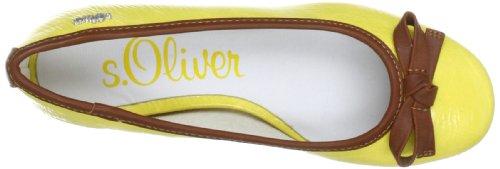 s.Oliver Casual 5-5-22101-30, Damen Ballerinas, Gelb (Yellow 600), EU 39 -