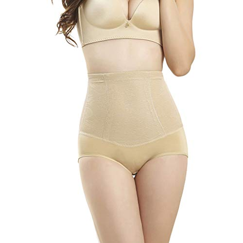 IZHH Damenmode Korsett dünne Taille Postpartale Hose Kontrolle schlanke Körperformung Hosen dünne Oberschenkel Magen Shapewear Einfarbig Körperformung Hüfte Hosen Bauchhose Khaki XL