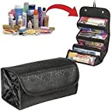 #6: Pindia Black Roll N Go Travel Buddy Toiletry Bag