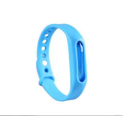 Shoppy Star Bunte Umweltschutz Silikon Armband Sommer Mückenschutz Armband Anti-Moskito-Band sicher für Kinder: Blau