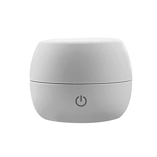 OUNONA Mini USB Luftbefeuchter Portable Nebel Ultraschall Luftreiniger USB Anschlusss für Kinderzimmer Schlafzimmer Büro Auto(grau)
