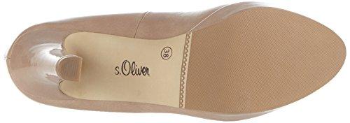 s.Oliver 22400, Scarpe con Tacco Donna Rosa (NUDE PATENT 252)