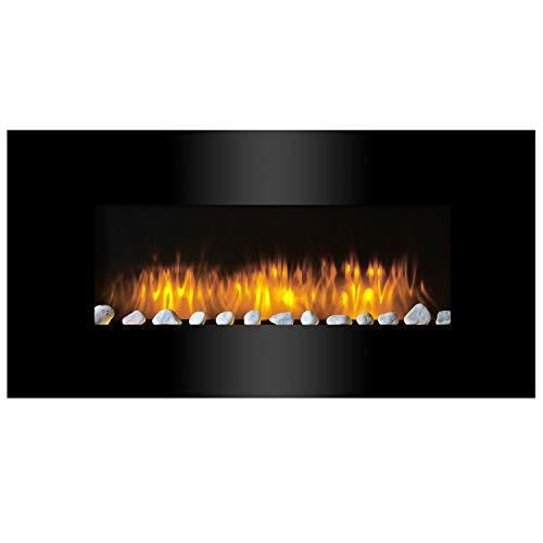 Classic Fire Vancouver -Calefactor de Pared con Efecto Chimenea-2000 W, Negro, 105,5 cm