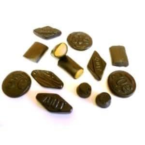 Assortment of mixed Dutch SALT Liquorice 150 grams bag
