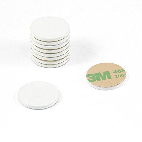 Magnet Expert 20Mm Durchmesser X 2mm dick weiß lackiert Stahl Disc mit 3M selbstklebend (100Stück) -