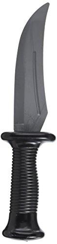 Kostüm Messer - Loftus Star Power Halloween Waffe Fake Gummi-Messer schwarz grau 10in