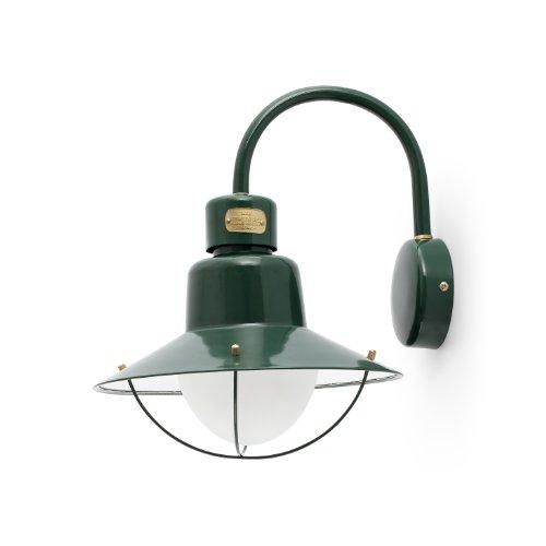 proiettore-barcelona-newport-71152-applique-60-w-metallo-paralume-in-vetro-opale-verde