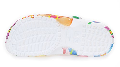 cleostyle Sabots Femmes Chaussures de Plage Chaussures de Jardin Sauna Chaussures Mules Chaussures Décontractées À Fleurs Impression CL 263 coloris