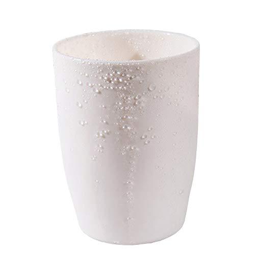 Off White-spender (FiedFikt Reisebecher Wasserbecher Saftbecher Milchkaffee Bad leicht aufzubewahren Becher Zahnbürstenbecher Zahnbürstenbecher Mundbecher Kunststoff Becher weiß)