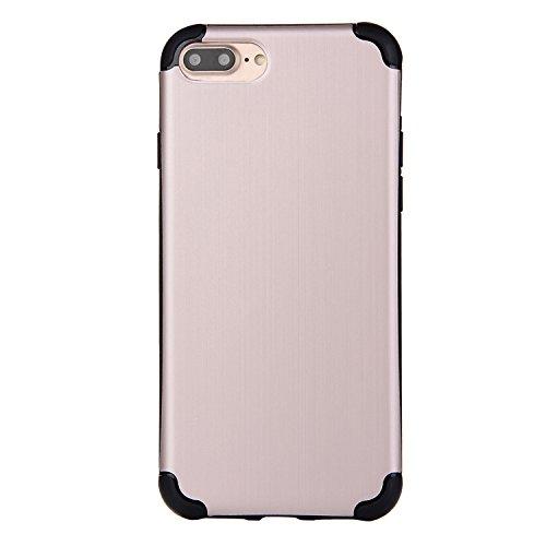 """iPhone 7Plus Hüllen, iPhone 7Plus Premium Softcase, CLTPY Ultradünn Air Cushion Stoßfest Schutz Fall, Luxus Camo Motiv Stoßfest Handytasche für 5.5"""" Apple iPhone 7Plus (Nicht iPhone 7) + 1 x Stift - S Beige A"""