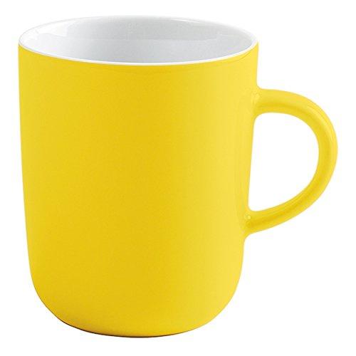 Kahla Pronto Colore Tasse à Café, Gobelet, Tasse, Gobelet, Porcelaine, Jaune Citron, 350 ML, 575335 A70412 C