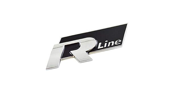 7.5 x 2.5 cm Careflection 3D R-Line Silver Black Badge Emblem Sticker Decal for Volkswagen VWCar Bike SUV Mobile Laptop