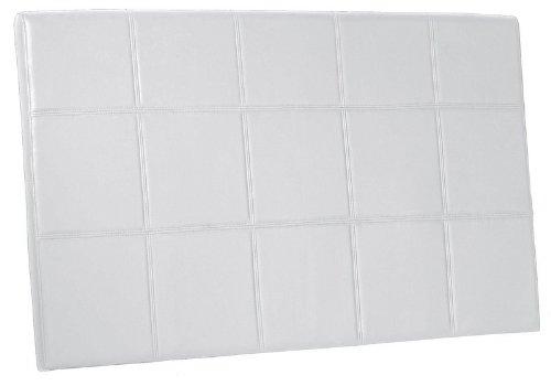 Adec - Cabezal polipiel 150 roma, medidas 150 x 90 cm, color blanco