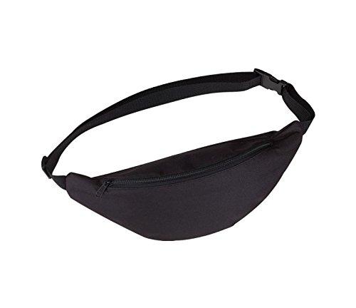 Bauchtasche Bauchtasche Hüfttasche Waistbag Doggy bag Gürteltasche Brusttasche Tasche zum Umschnallen mit Reissverschluss Reißverschluss für Handy Handytasche Sport Reise für Herren und Damen schwarz