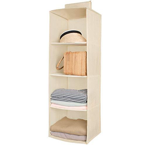 94679cefe34563 Étagères de rangement suspendues, 4 compartiments Étagères suspendues  étagère suspendue en tissu pour la chambre des enfants-colonne de rangement  aussi pour ...