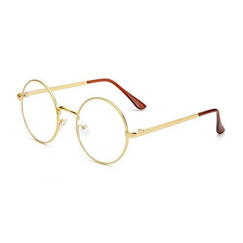 FANGUGF Gläser Runde Gläser Gewöhnliche Gläser, Die Optische Gläser Der Computer-Schutzbrillen Lesen