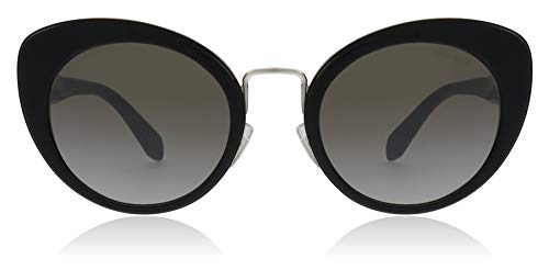Miu Miu Sonnenbrillen LOGO SMU 06T BLACK/GREY SILVER SHADED Damenbrillen