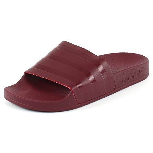 Adidas adilette, pantofole aperte sul retro uomo, rosso (collegiate burgundy/collegiate burgundy/collegiate burgundy), 36 2/3 eu