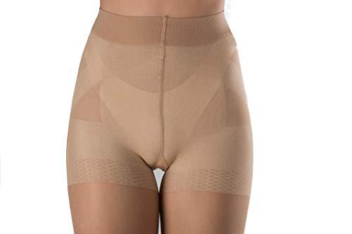 WOOTI Panty con Braga tipo faja efcto Push-up CONTADINA 20 den, color Cosmetic, talla S, Elegante, Atractivo, Cómodo, resistente, contenitivo, Velado, Refinado