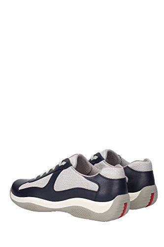 4E2043OLTREMARE Prada Sneakers Uomo Pelle Blu Blu
