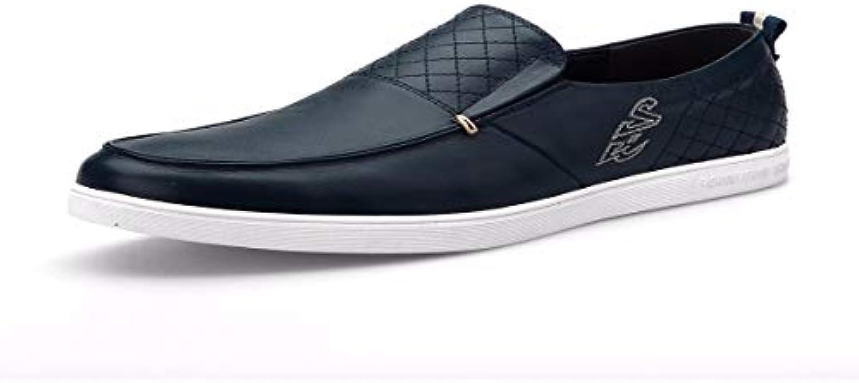 KMJBS Calzado de Hombre/Los Hombres Zapatos Casuales Zapatos De Los Hombres De Negocios Y Slack Azul Treinta Y...