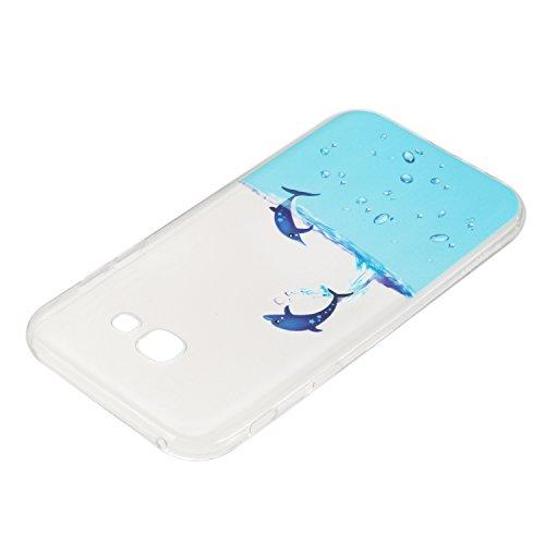 BONROY® Samsung Galaxy A5 (2017) A520 Coque Housse Etui,Fashion Belle Ultra-Mince Thin Soft Silicone Etui de Protection pour Souple Gel TPU Bumper Poussiere Resistance Anti-Scratch Case Cover Couvertu dauphin