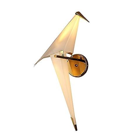 Hochwertige Nordische Postmodern Geometrische 3D Origami Vogel PP Material Wand Lampe Kreative Kinder Zimmer Wohnzimmer Schlafzimmer LED Dekorative Wandleuchte 28 * 65CM ( design : Recht )