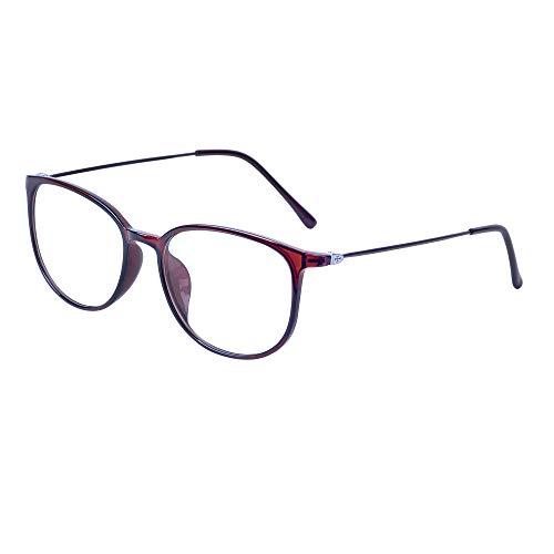 JoXiGo Brille Ohne Sehstärke für Damen Herren - Klar Linse TR90 Metall Brillenfassungen Ultraleicht(13g) - Brillenetuis (Kinder Cateye Sonnenbrillen)