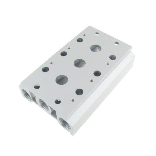 DealMux Aluminium 3 Row Stationen Manifold Magnetluftsteuerventil Basis - Station Manifold