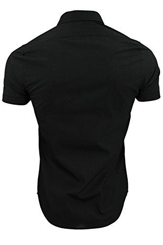 Brave Soul - Herren Kurzarm Hemd 'Mombassa' Schwarz