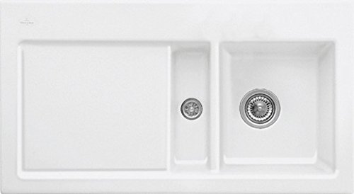Preisvergleich Produktbild Villeroy & Boch Subway 50 Edelweiss Weiß Spülbecken Auflagespüle Keramik-Spüle