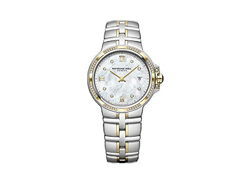 Montre à Quartz Raymond Weil Parsifal Ladies, PVD Or, Nacre, 56 Diamants