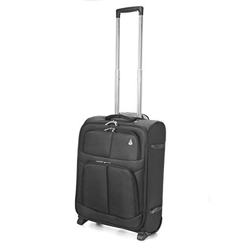 Aerolite leicht 2Rad Max Kabine Ryanair zweiten Tasche Handgepäck, 55cm, 42Liter, schwarz schwarz