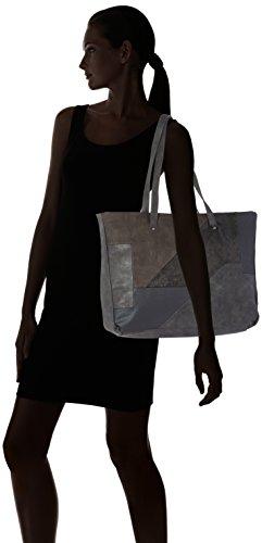 Tamaris - Bimba Shopping Bag, Borse a secchiello Donna Grigio (Graphite Comb.)