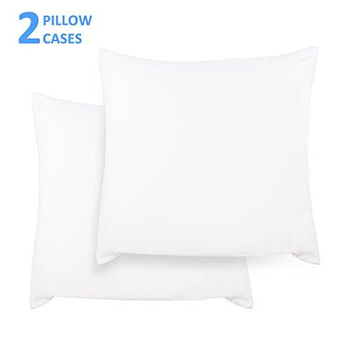 Kissenbezug kissenhülle Kopfkissenbezug Bettkissenbezug Pillowcase, Adoric [2er Set] Kissenbezug 100% Mikrofaser, 80 cm x80 cm.(Weiß)