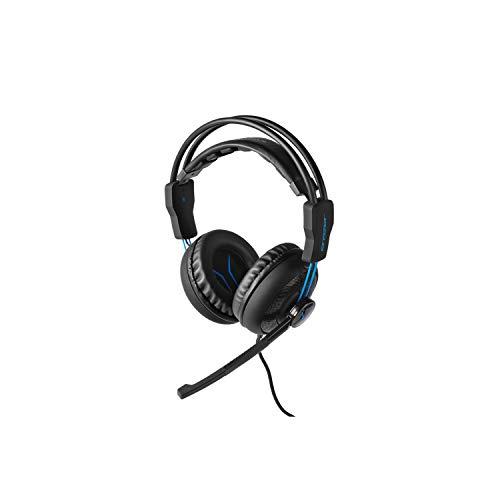 MEDION ERAZER P83962 Gaming Headset, Überragender Klang und Lautsprecherqualität, leistungsstarker Bass, Mikrofon, Kabel- und Lautstärkeregelung, schwarz -