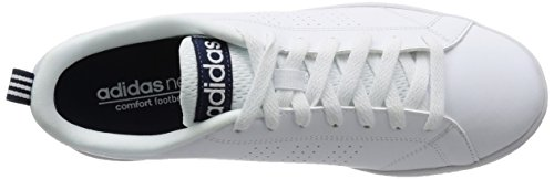 adidas Advantage Clean VS, Baskets Basses Homme, Blanc, Eu Blanc / Bleu marine (Ftwbla / Ftwbla / Maruni)